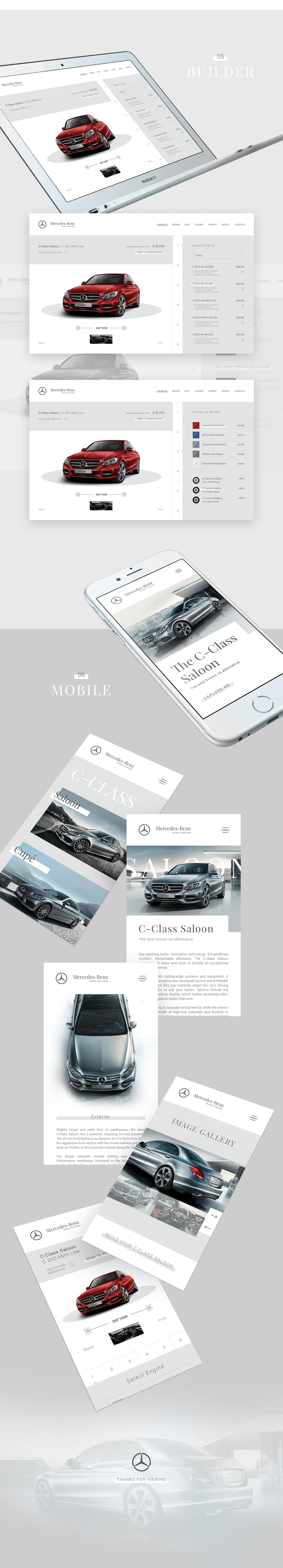 Mercedez Benz concept car website design and branding by Finsweet