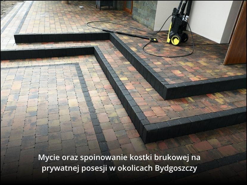 Realizacja firmy Alrent, która wykonała mycie kostki Brukowej w Murowańcu, obok Bydgoszczy