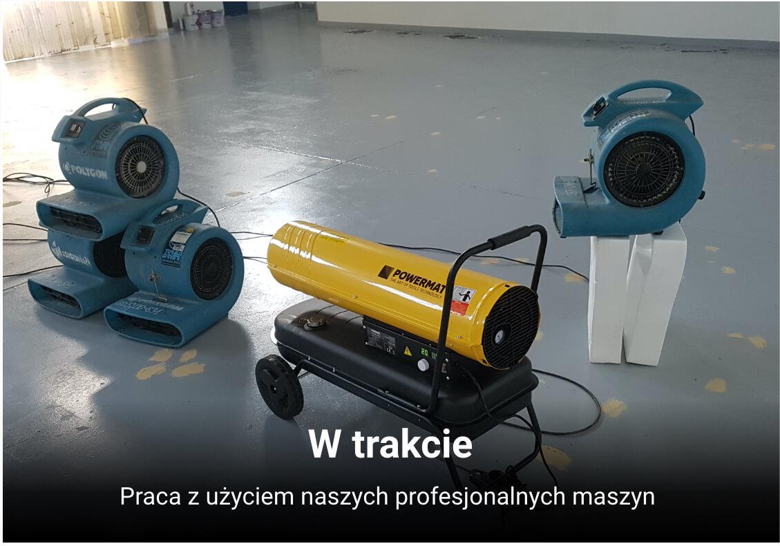 Nasze profesjonalne maszyny, w trakcie pracy