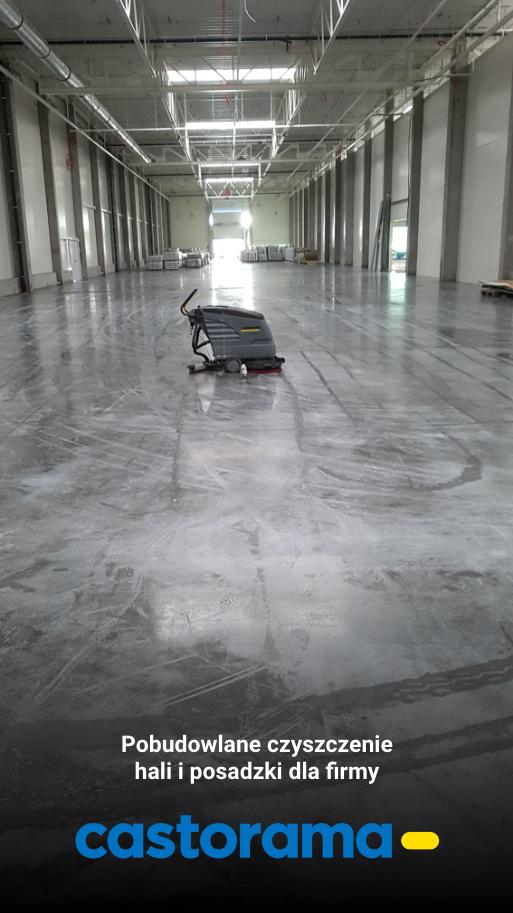 Czyszczenie hali przemysłowej oraz czyszczenie posadzki dla firmy Castorama