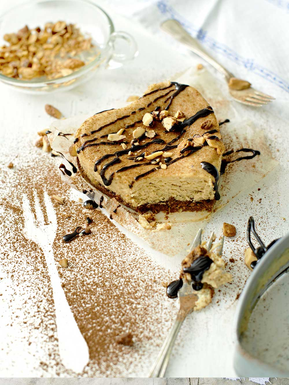 Cheesecake med hasselnöt