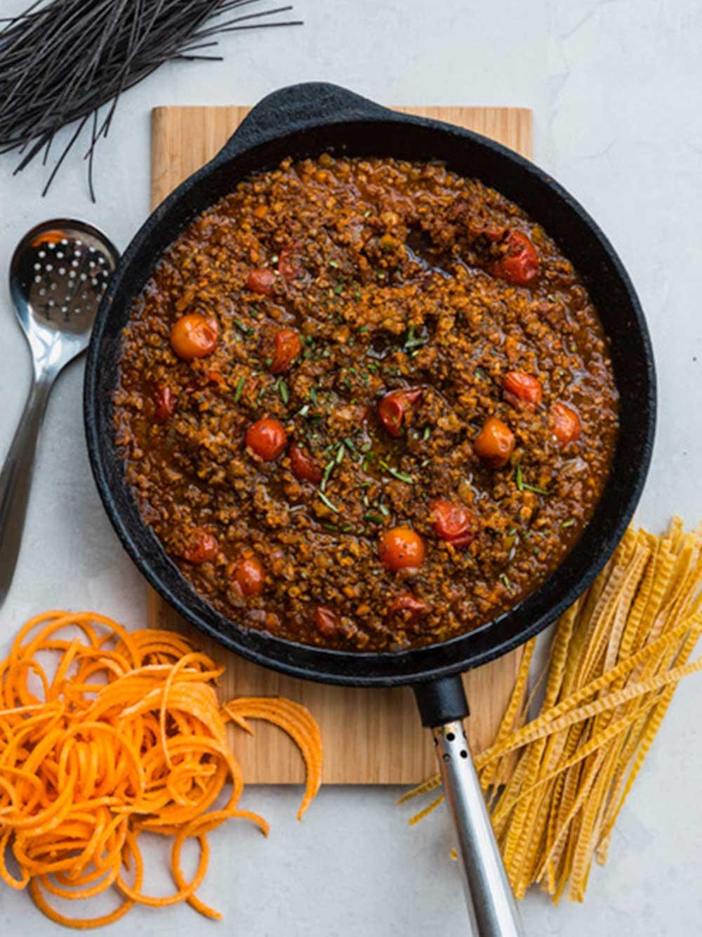 Spaghetti bolognese vego style