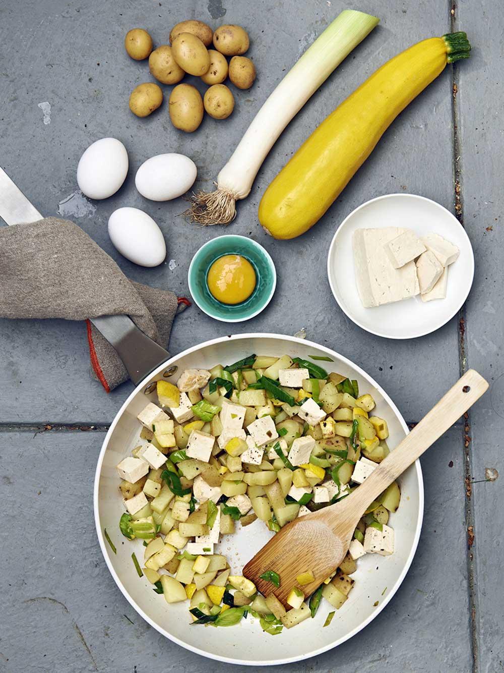 Zucchinipytt med tofu