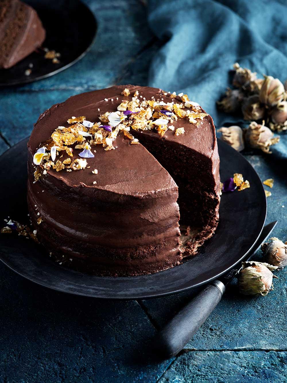 Chokladtårta med praliné