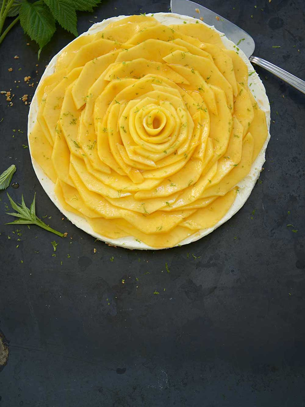 No bake mangocheesecake