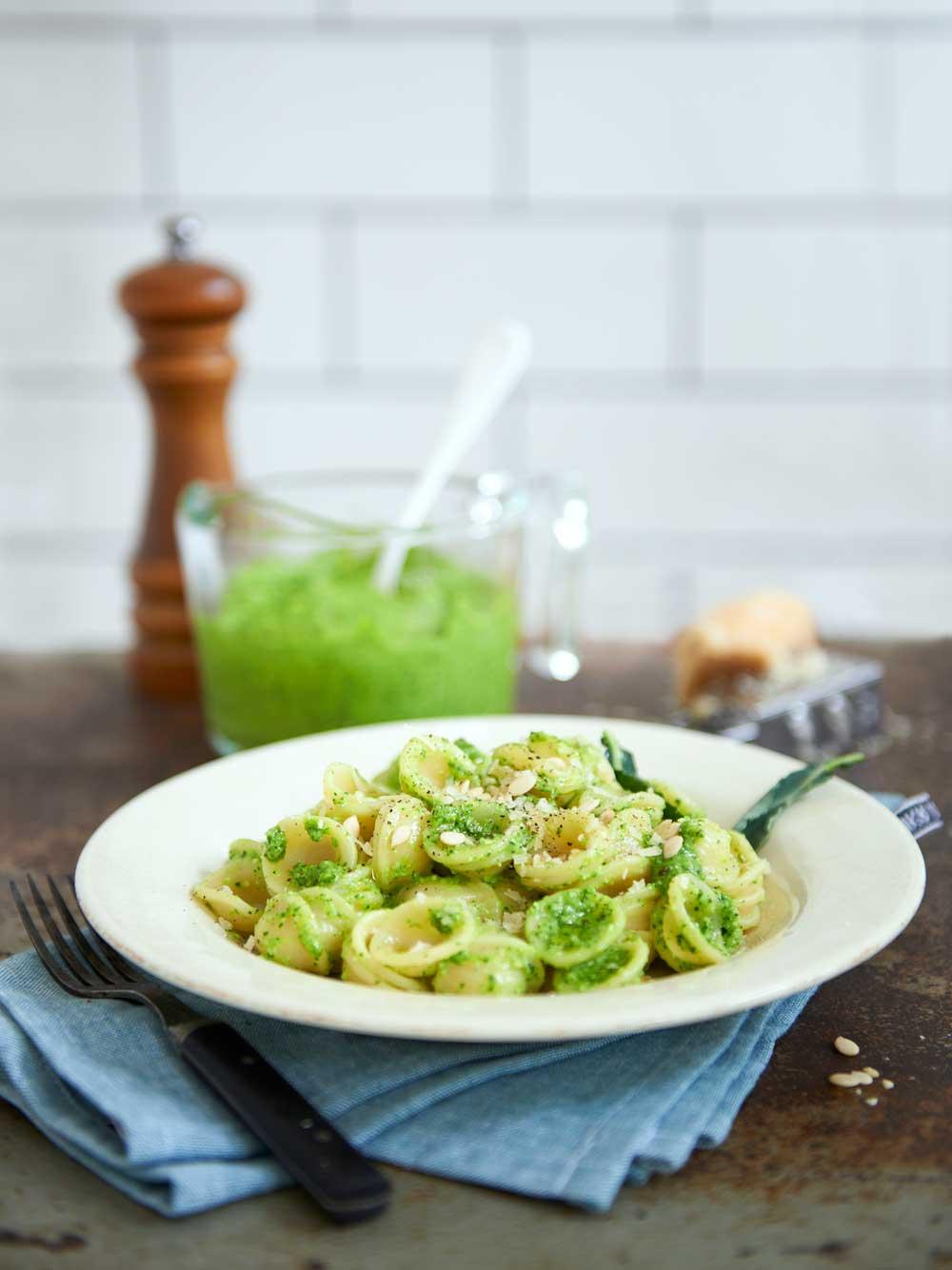 Pasta med broccolipesto