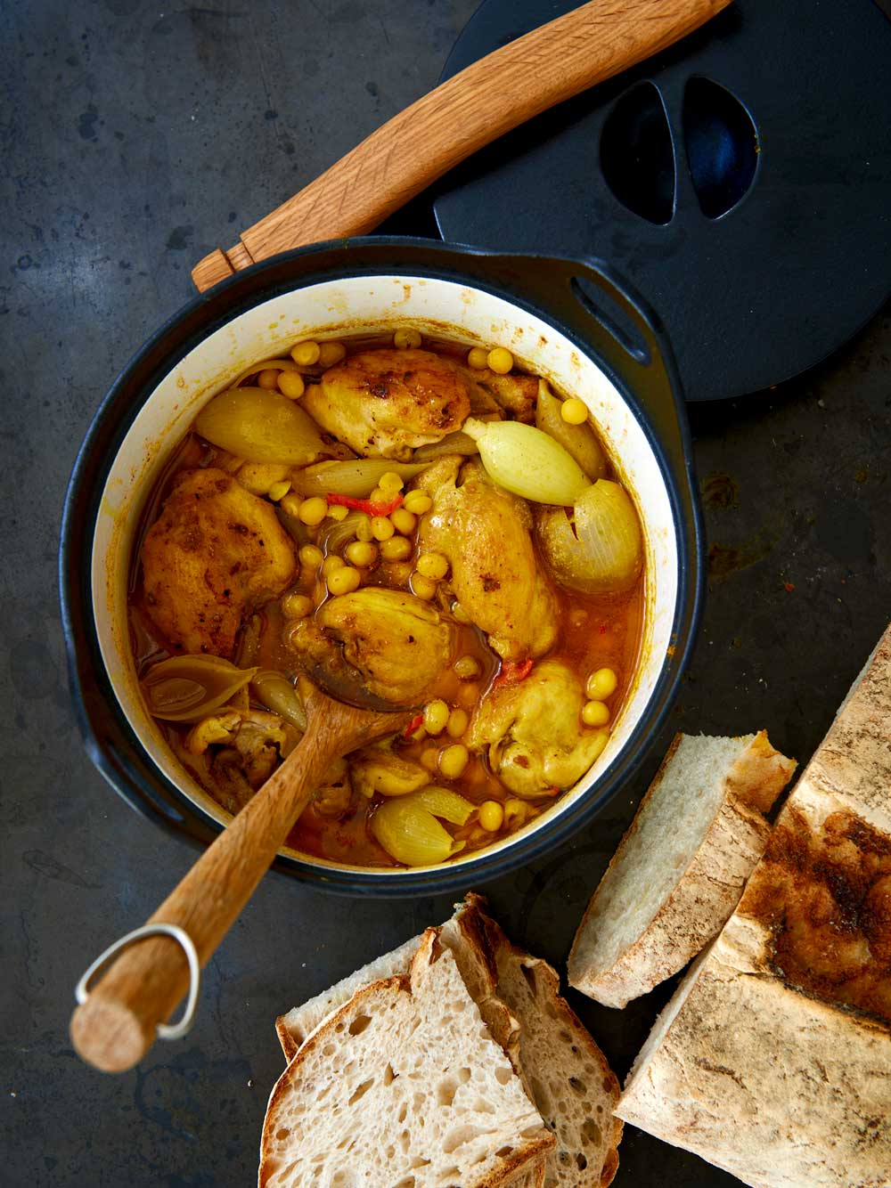 Currykyckling med gula ärter