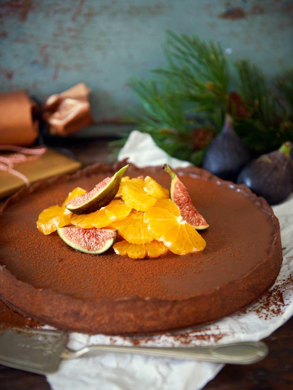 Chokladpannacottapaj