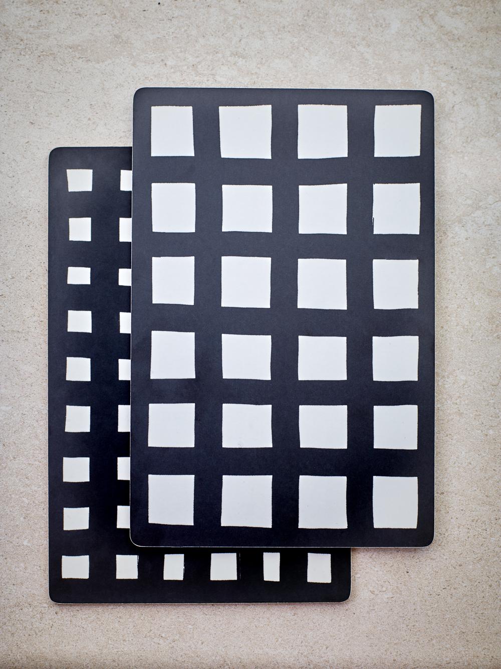 Uppläggnings-bräda svart & vit