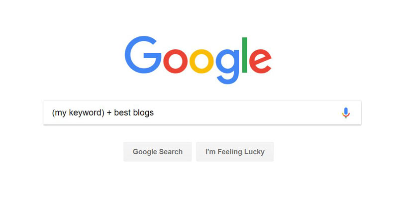 google search for blogs