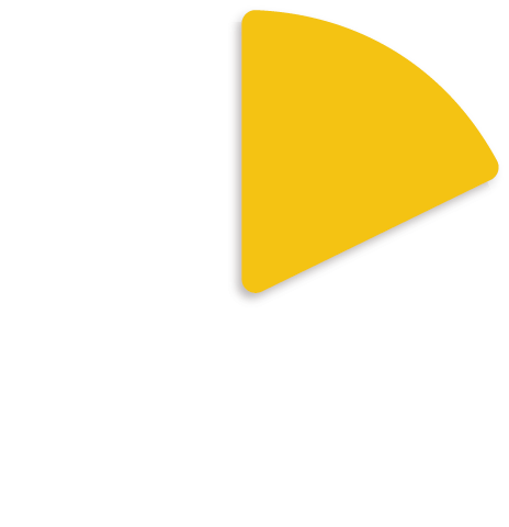 yellow and white pie chart icon