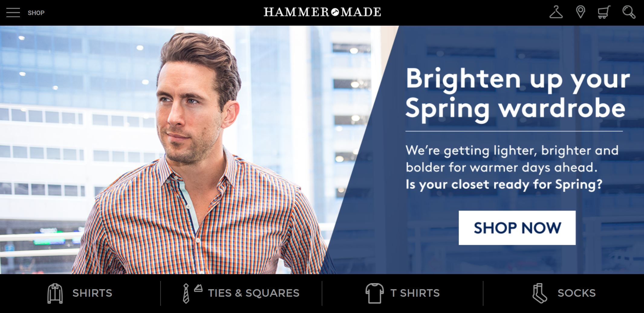 hammermade homepage screenshot