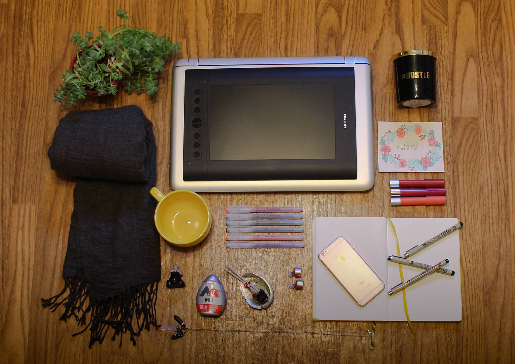 The contents of Kate Rodriguez's work bag. Click for a description.