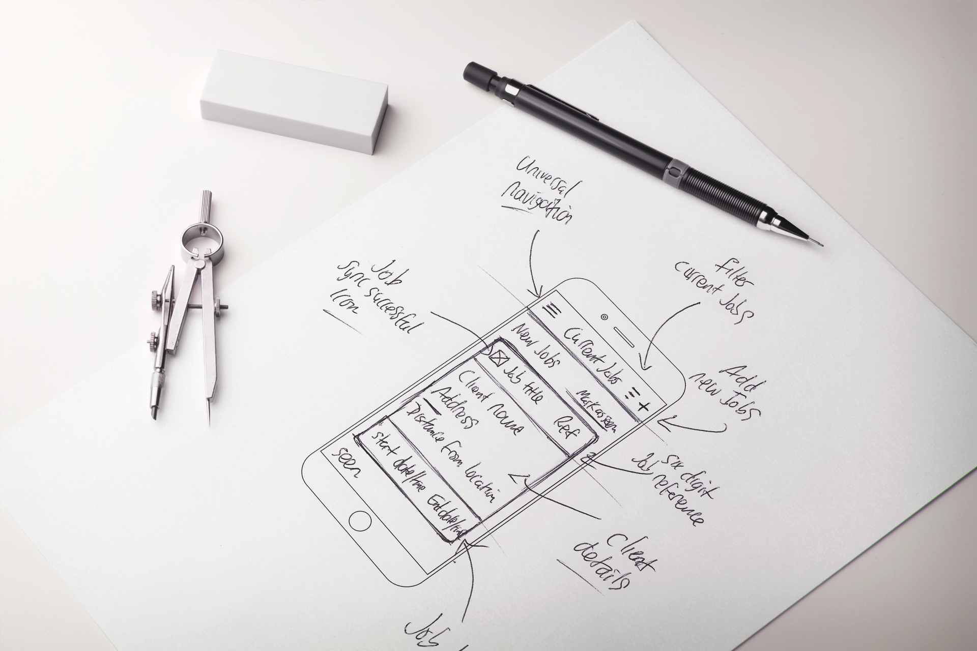 Clik Jobs GUI (Graphical User Interface) Sketching