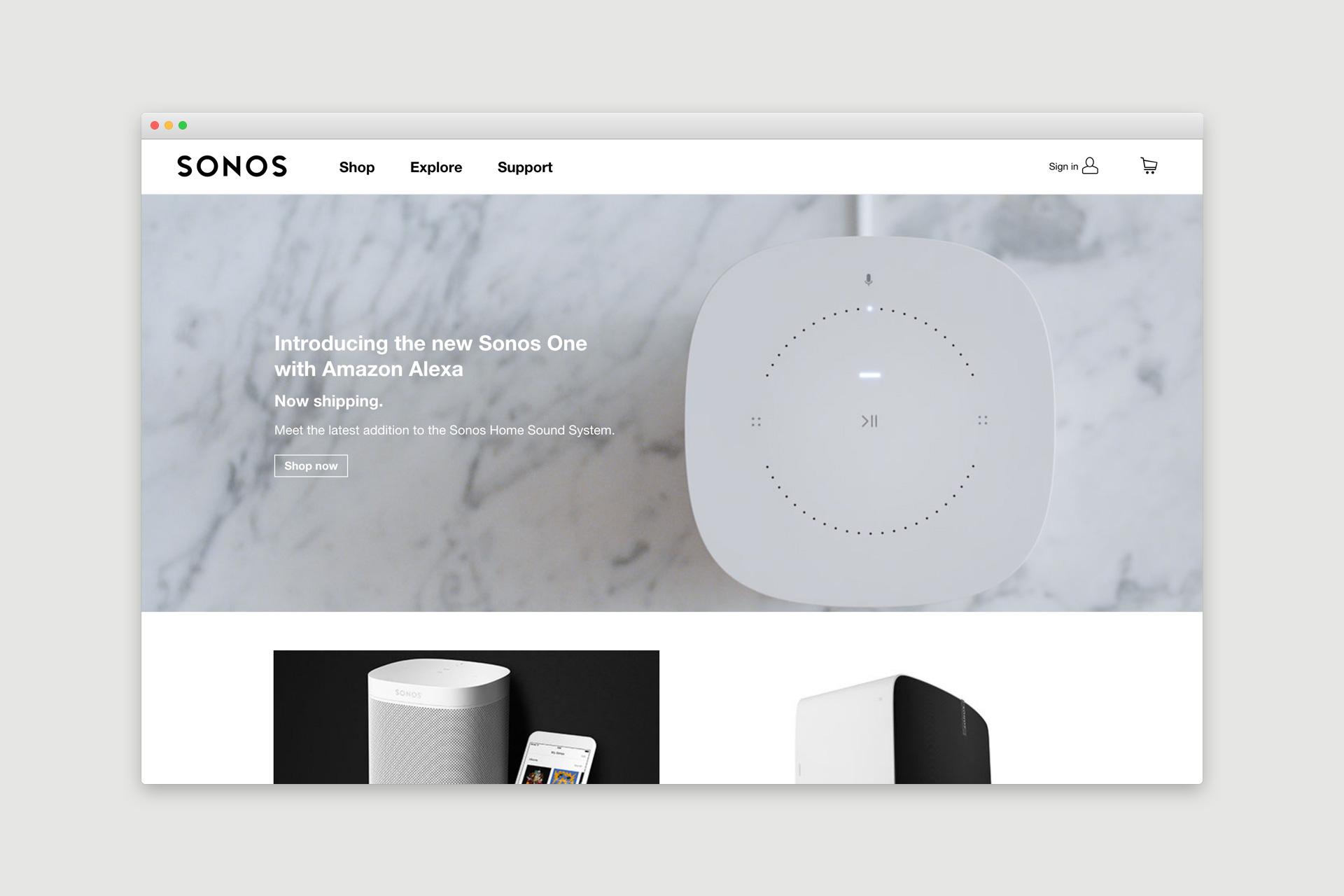 Sonos Website Design