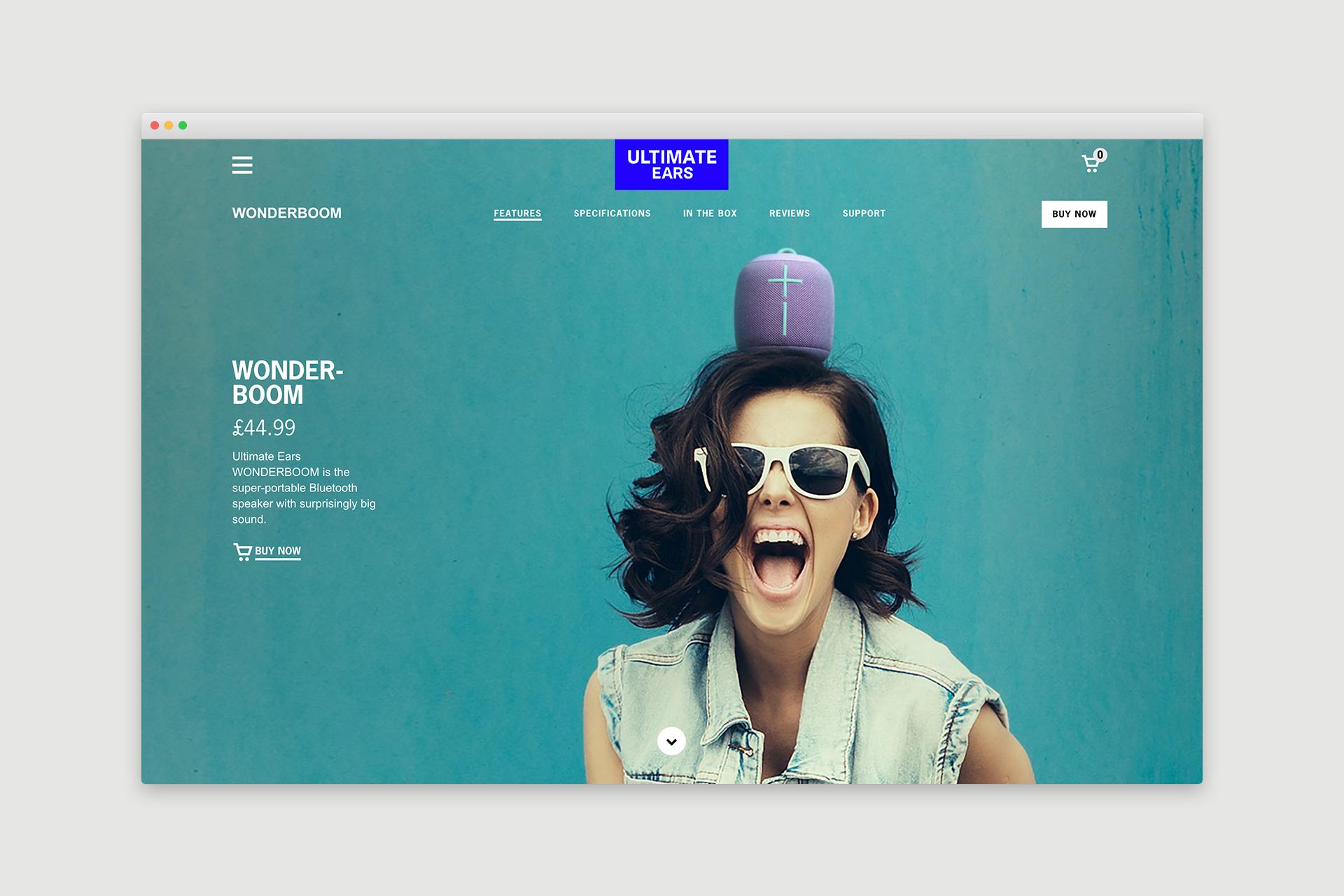 Ultimate Ears Website Design