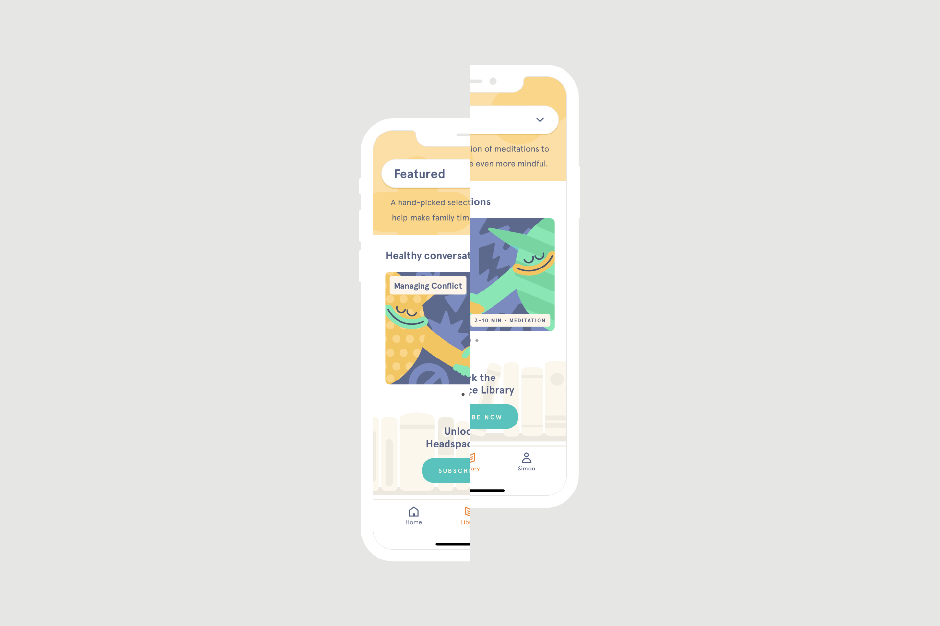 A designer's take on the Headspace app