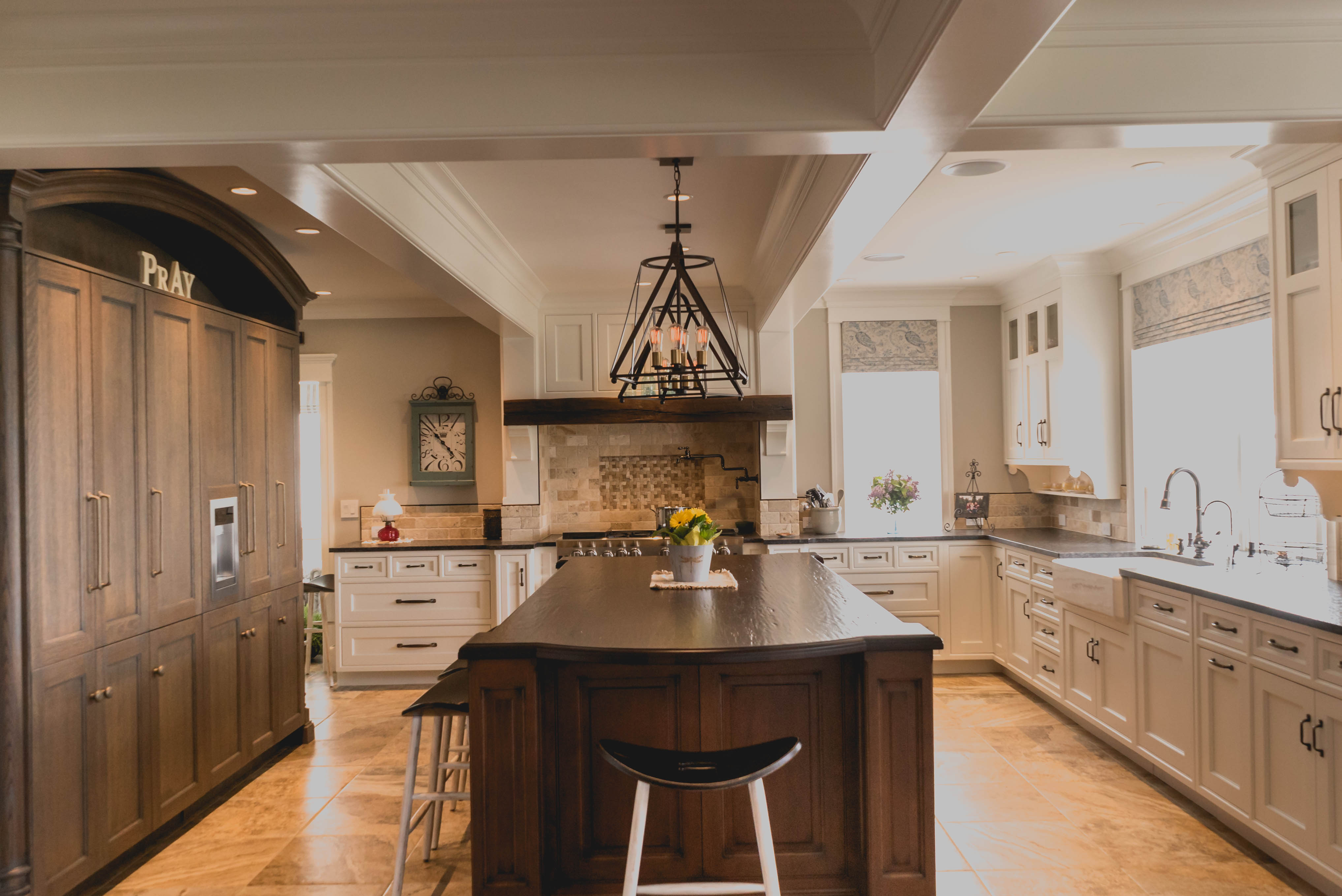 Photo of a farmhouse kitchen remodel project by Jim Martin Design