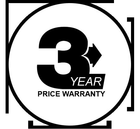 3 year price warranty on all kitchen exhaust equipment installations