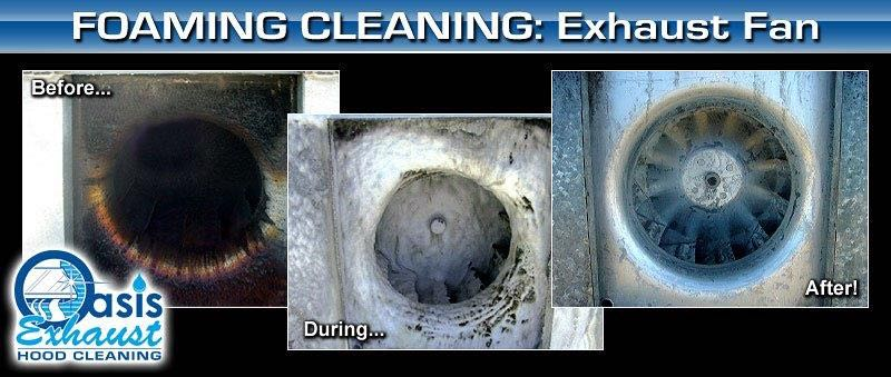 Exhaust Fan Cleaning in Los Angeles with Foam Cleaning Solution