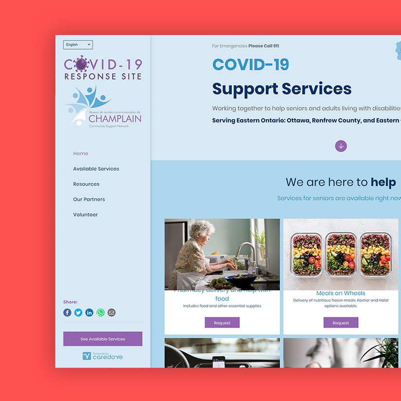 Champlain Region COVID-19 Support Services