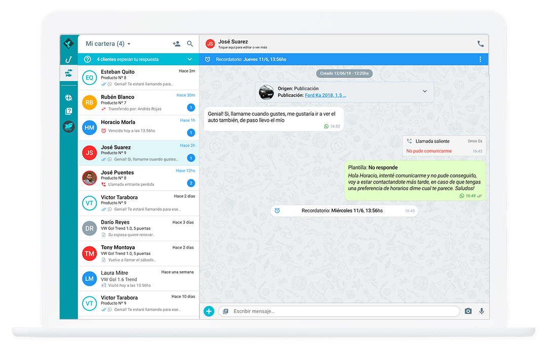 Interfaz Conversacional WhatsApp Desktop