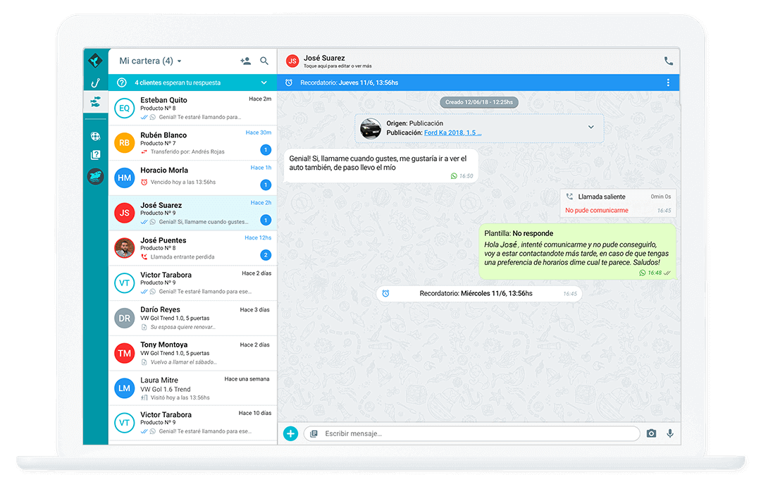 Interfaz Conversacional WhatsApp Desktop