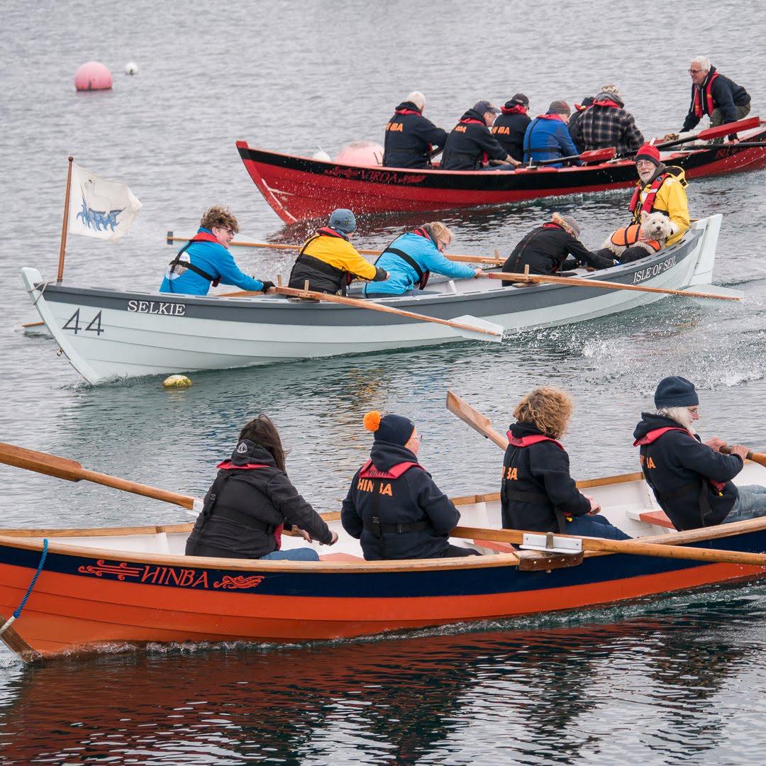 Coastal rowing in St Ayles Skiffs