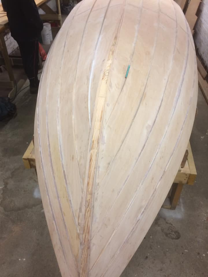 Appin Skiff's hull during build