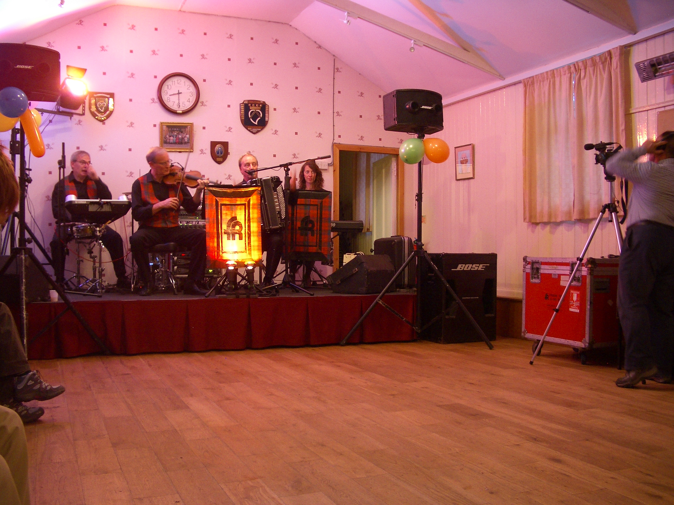 Birthday party ceilidh in Port Appin Hall