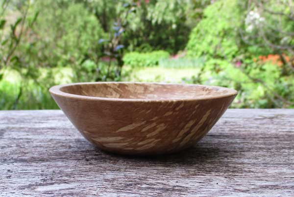 Bowl from local wood, Port Appin.