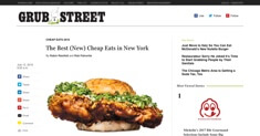 Grub Street - Cheap Eats