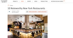 Interior Design - 10 Noteworthy Restaurants