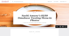 Sushi Amane's $250 Omakase Tasting Menu in Photos