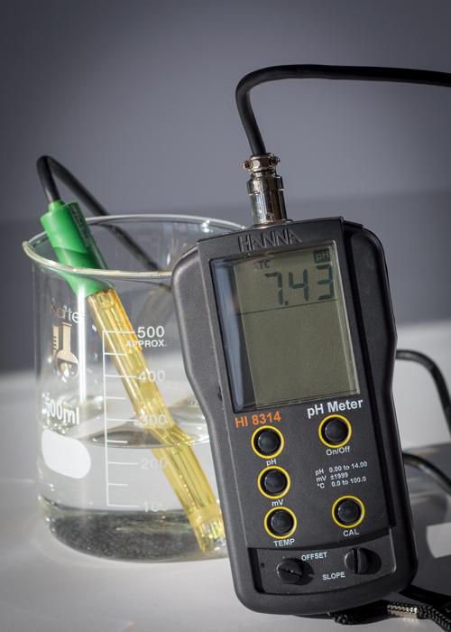 Original water pH of 7.43
