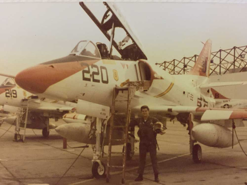 George Sims as a Navy Pilot