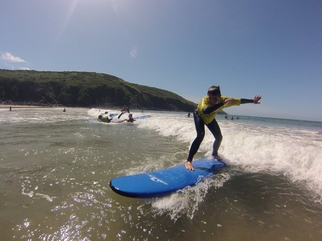 Surfing with Nick Thorn