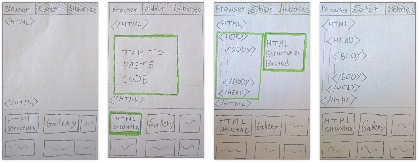 concept 3 low fidelity wireframes