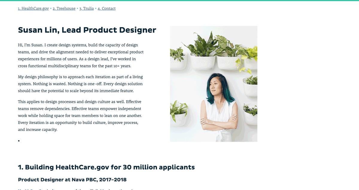 Susan Lin Portfolio Website