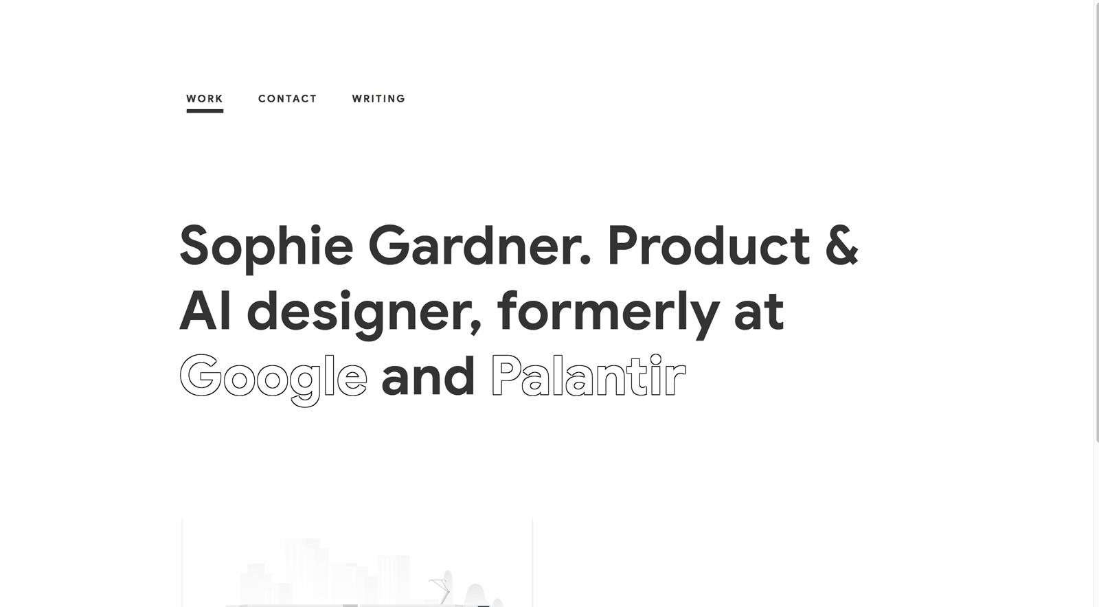 Sophie Gardner Portfolio Website