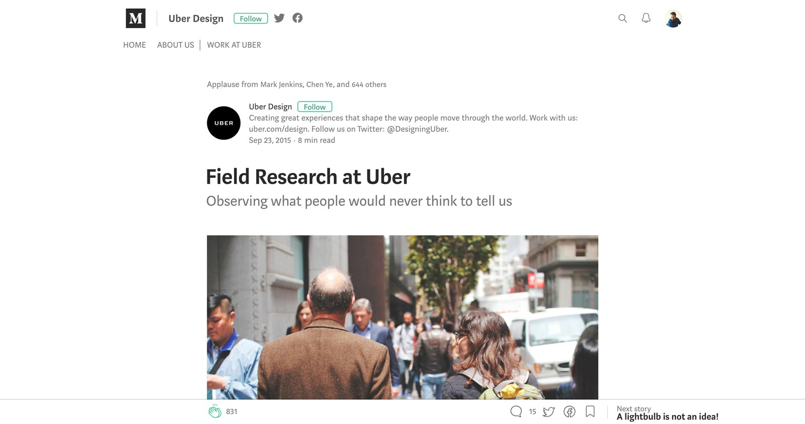 Research on the Road Uber