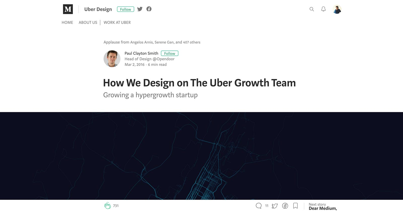 How Uber Design Growth Article