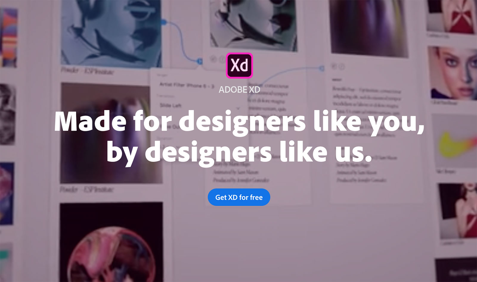 Adobe Xd website