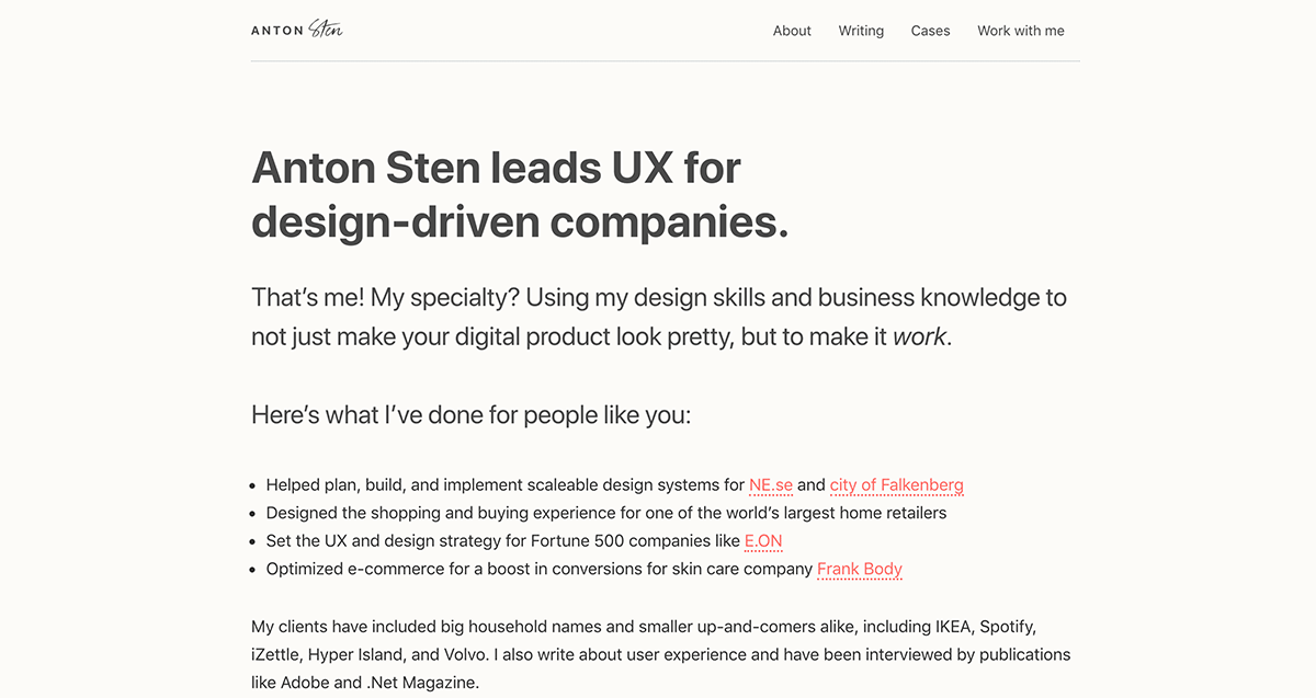 Top 19 UX Designer Portfolio Websites in 2019 – Case Study Club