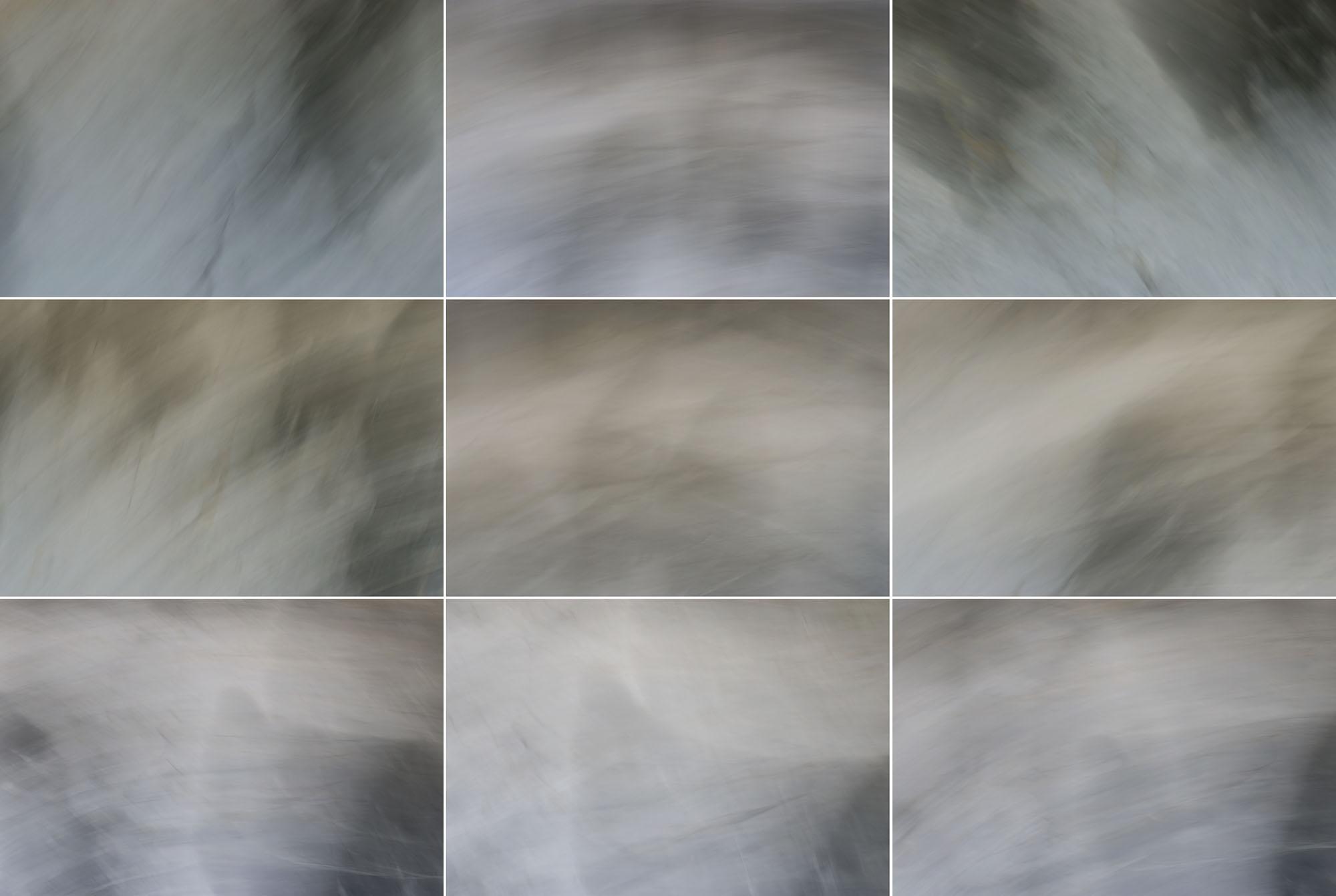 Foto van vage grijze vormen met groen, geel en rode variant in 9 hokjes