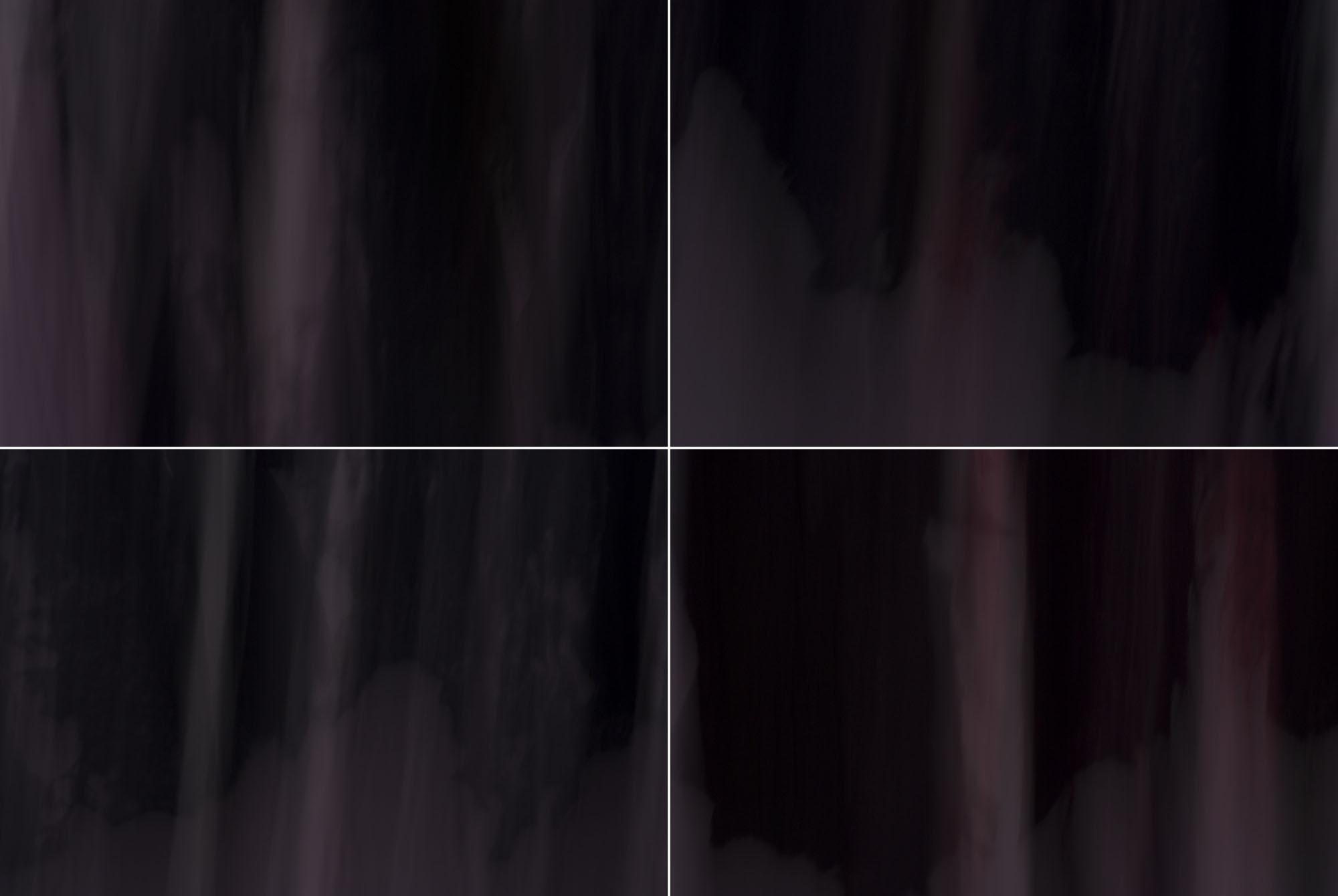 Foto van vage paarse vormen in 4 hokjes