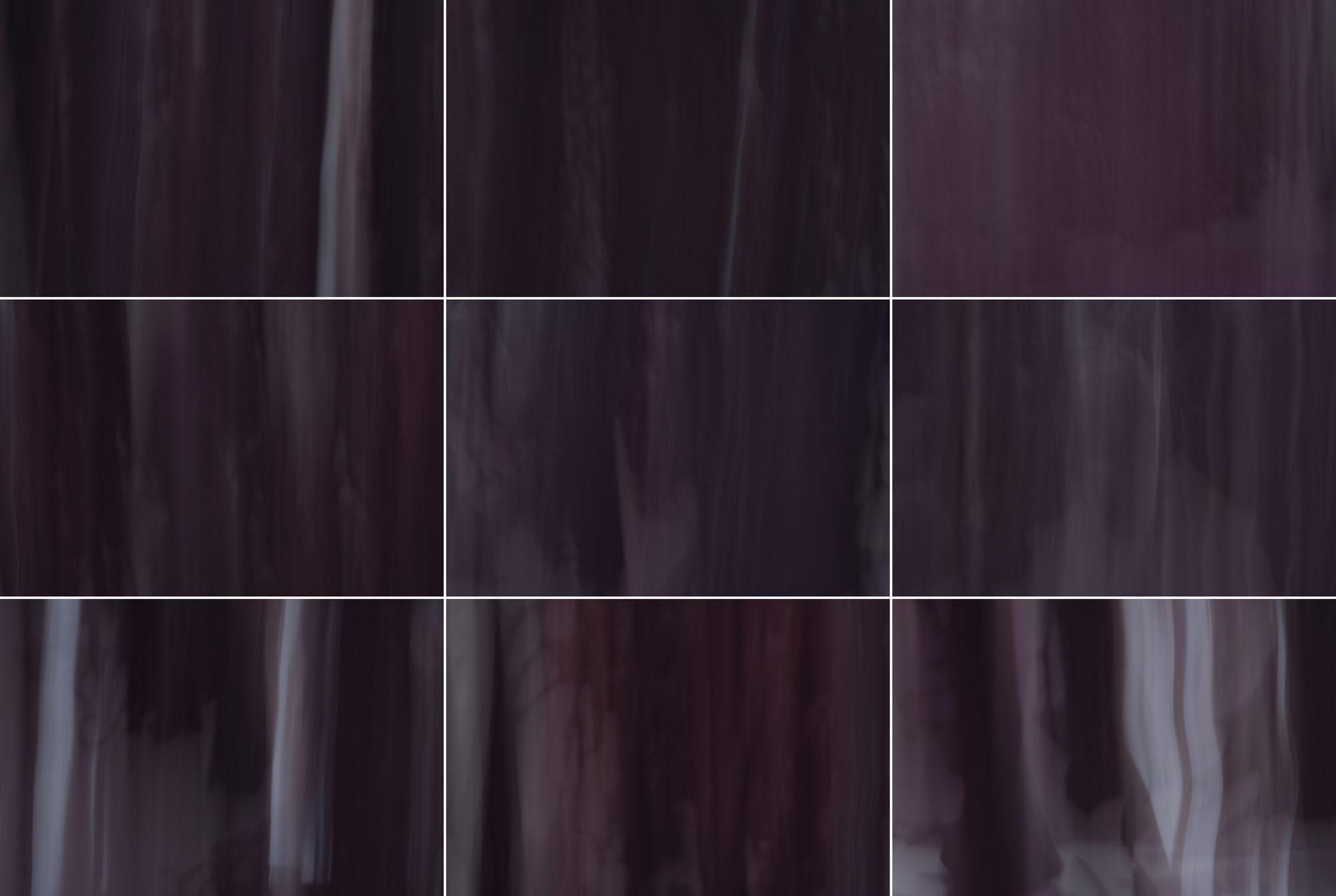 Foto van vage paarse vormen in 9 hokjes