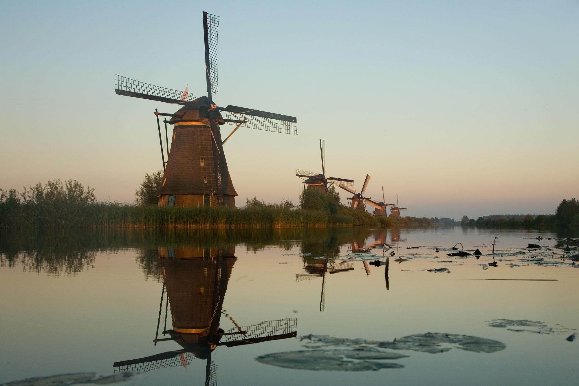 Foto van Kinderdijk molens
