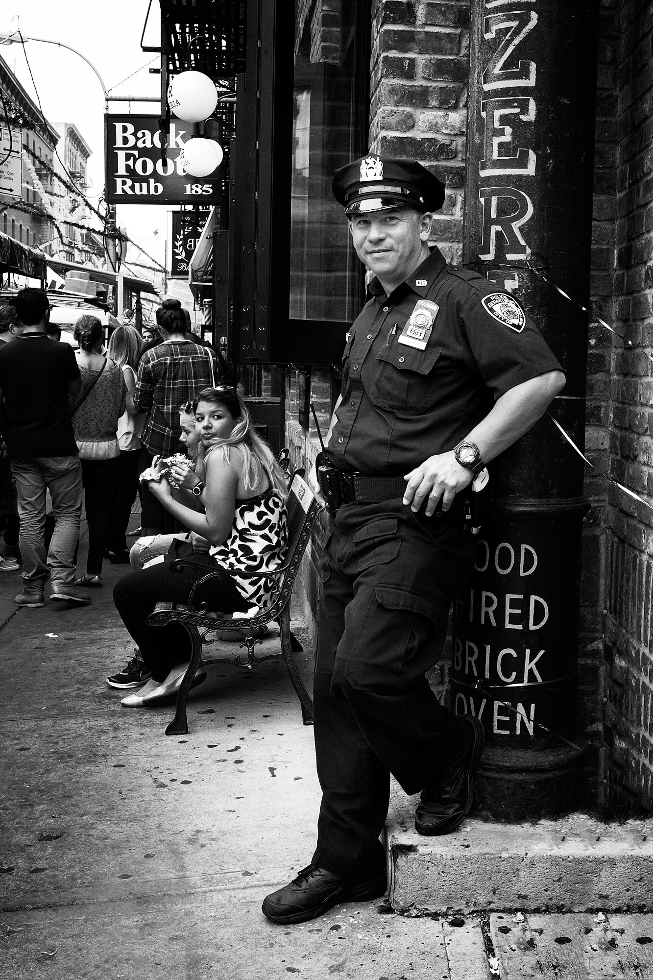Foto van politieman in New York
