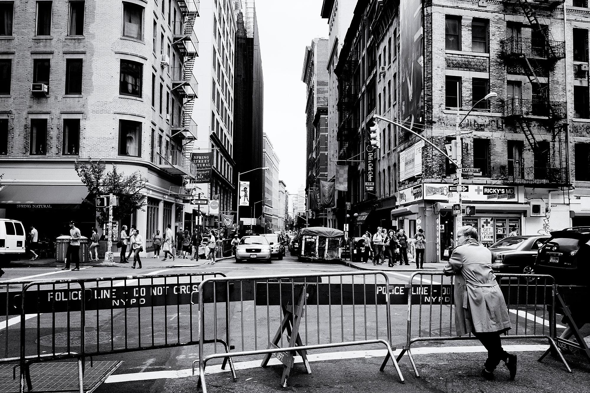 Geblokkeerde straat in New York